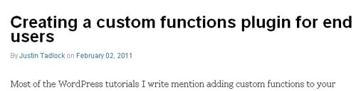 Creating a custom functions plugin for end users