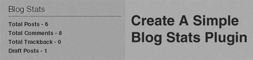 Create A Simple Blog Stats Plugin