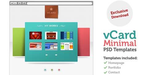 V-Card Minimal website