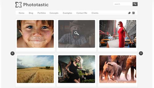 Phototastic:  Photography Portfolio Template