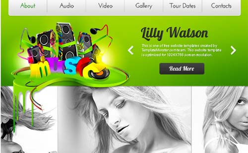 Music Website Template – Rock Your Web Project