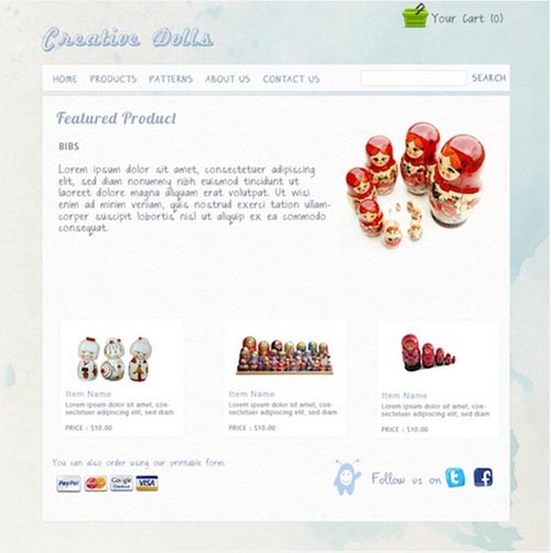 Watercolor ecommerce