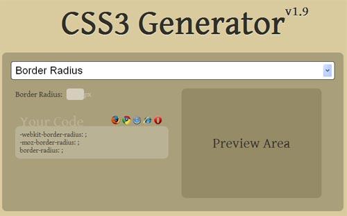 CSS3 Generator v 1.9