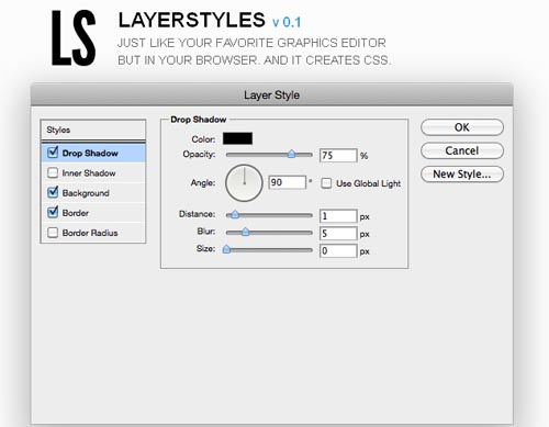 LayerStyles v 0.1
