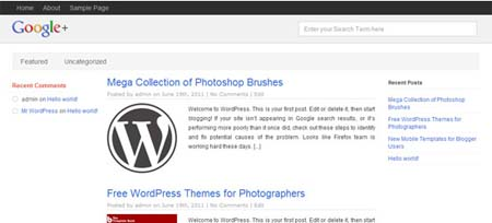2 Free WordPress Themes That Look Like Google+