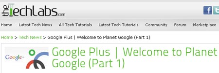 Google Plus. Welcome to Planet Google