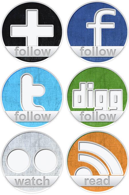6 social icons