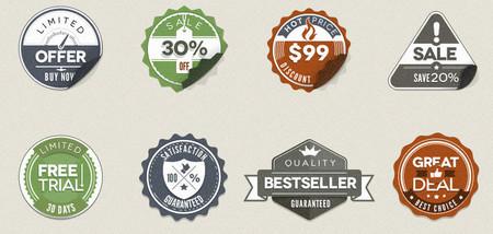 Vintage Stickers Badges