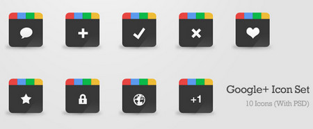 Google+ Icon Set