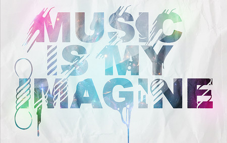 Music is my imagine with paper