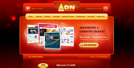 Red Web Design Template