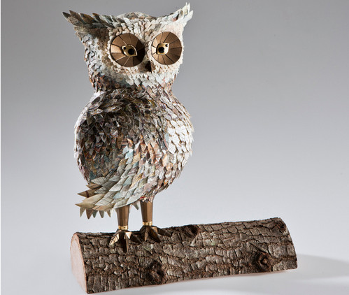 life-size reproduction of a Whet Owl
