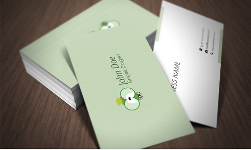 Business card with 2 alternative back sides.