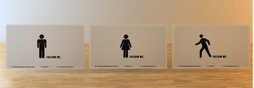 Falow me Business Card Set