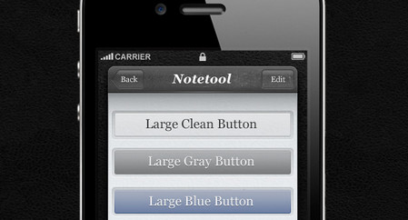 Notetool iPhone App UI Kit