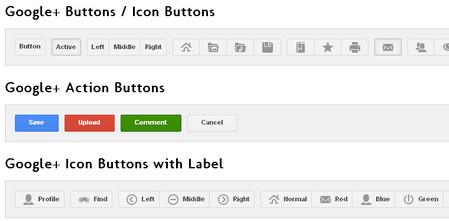 Google+ Styled Buttons