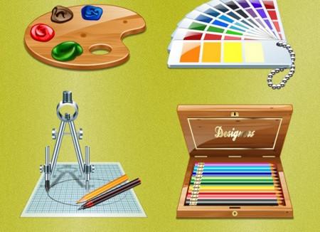 Set of Web Designer's Icons