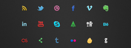 IC Mini Social Icon Set
