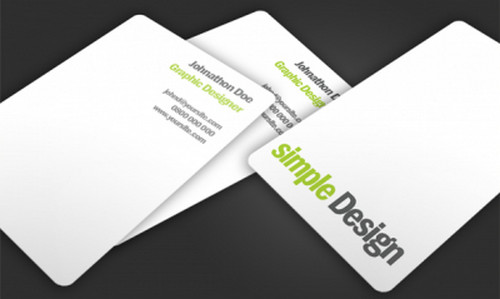 simple Design business card