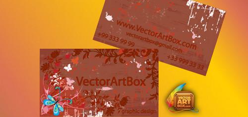 Grunge Floral B-Card