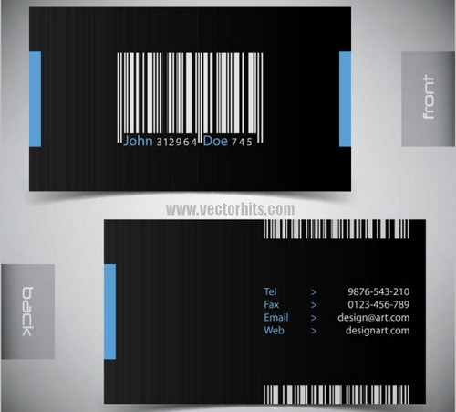 Vector material Elegant business card 04
