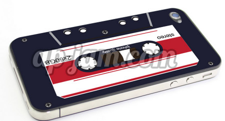 Iphone 4 cassette sticker