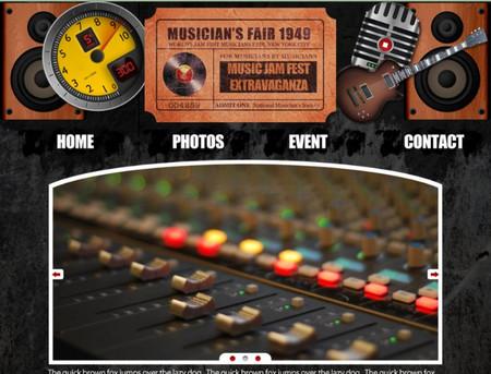 grunge Musician Website