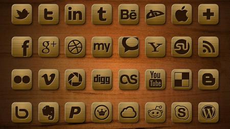 Деревянный набор иконок