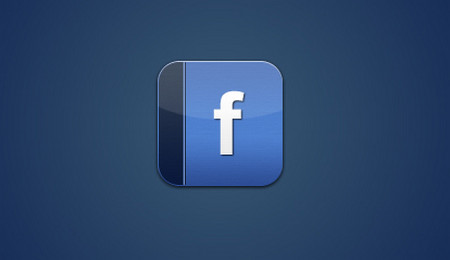 Facebook Icon for the iPhone with Photoshop