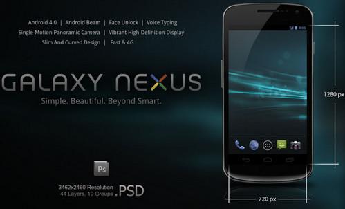 Samsung Galaxy Nexus .PSD