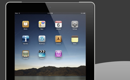 iPad 2 Black .PSD File