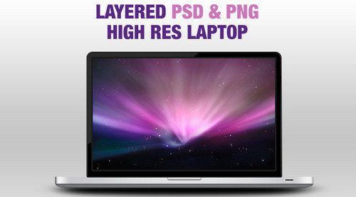 Layered PSD&PNG Laptop