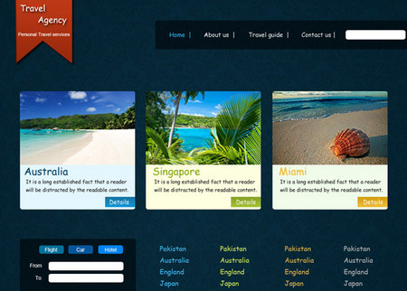 Web Template for Travel Agency