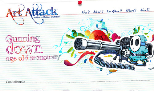 Art Attack - Website Design Delhi