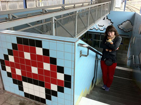 The Stockholm Subway Gets Decorated With Cool 8-bit Retro Games Designs