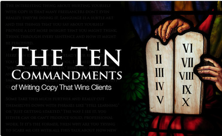 The Ten Commandments of Writing Copy That Wins Clients