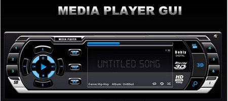 Sleek Media Player GUI