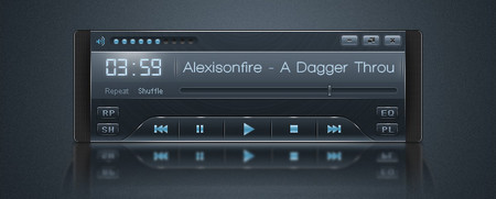Sleek Audio Player Interface
