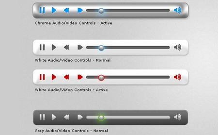 6 Video/Audio UI Controls