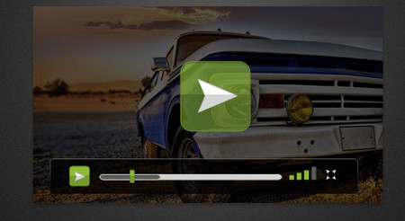 Video Player Skin PSD