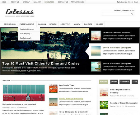 Colossus WordPress Theme