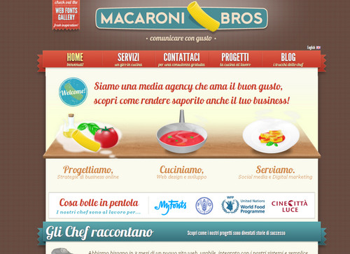 Macaroni Bros - Web Design