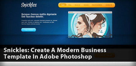 Snickles: Create A Modern Business Template In Adobe Photoshop