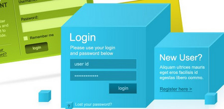 8 Modern & Web 2.0 Login Signup Panels (Set 2)