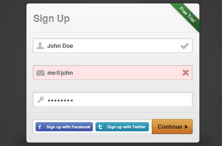 Sign-up Modal Box
