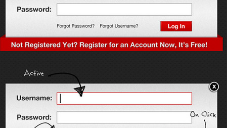Pop-Up User Login Form