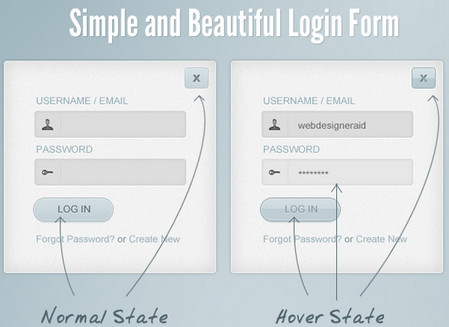 Simple and Beautiful Login Form