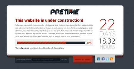 "Pretime - ""Under Construction"" .psd temp"