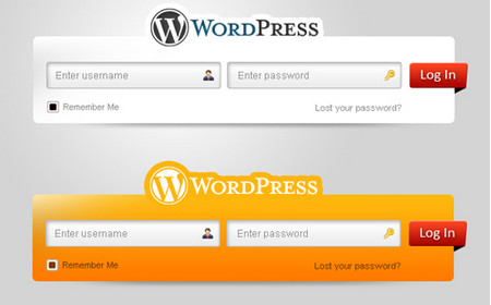 Fresh WordPress Login Form Set