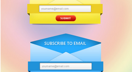 Fresh Email Subscription Form Set